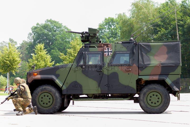 Transporteur de forces terrestres de l'Allemagne, aigle de mowag IV image libre de droits