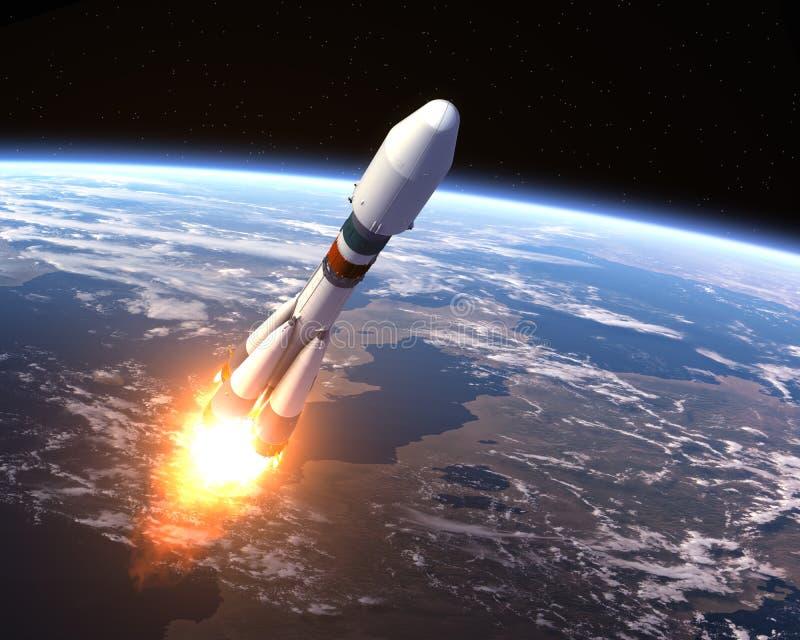 Transporteur lourd Rocket Launch illustration stock