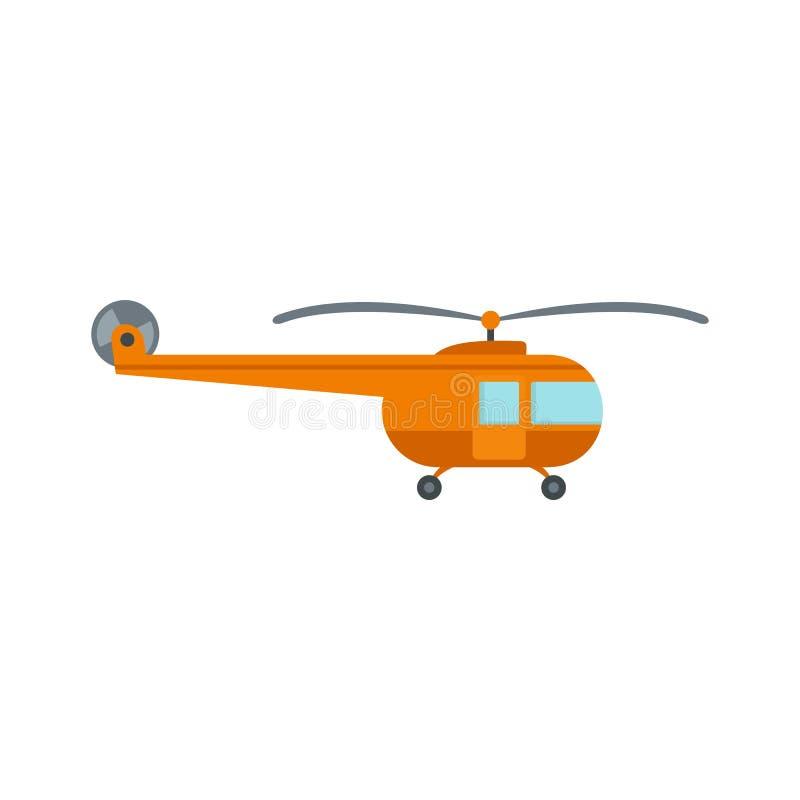Transporthelikoptersymbol, lägenhetstil stock illustrationer
