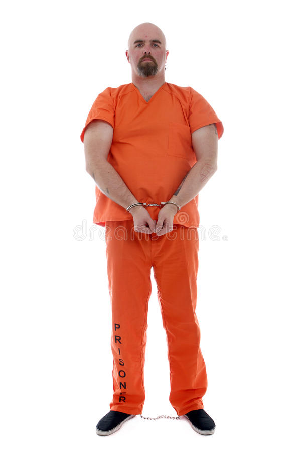 Transportieren des Gefangenen stockfoto