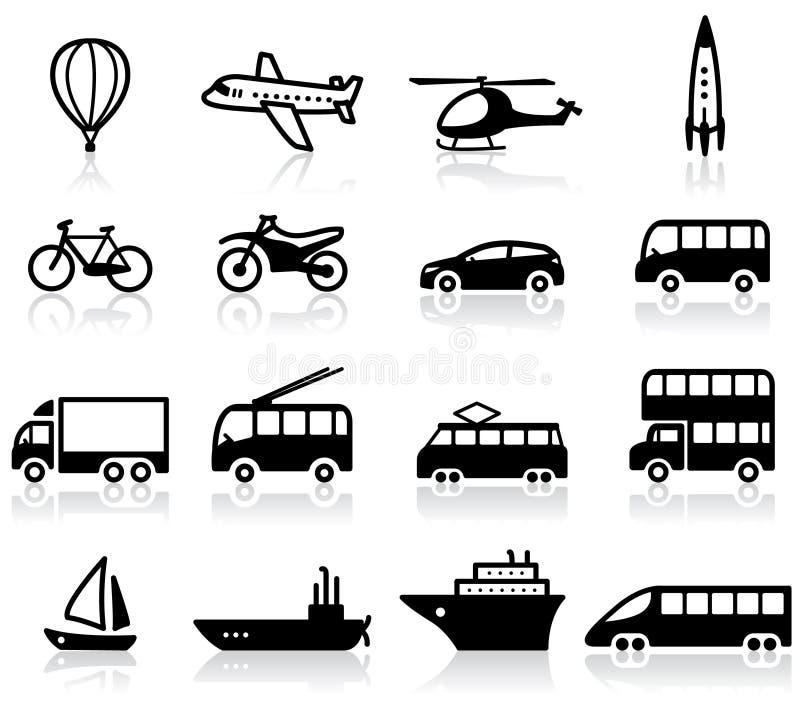 Transportikonen lizenzfreies stockbild