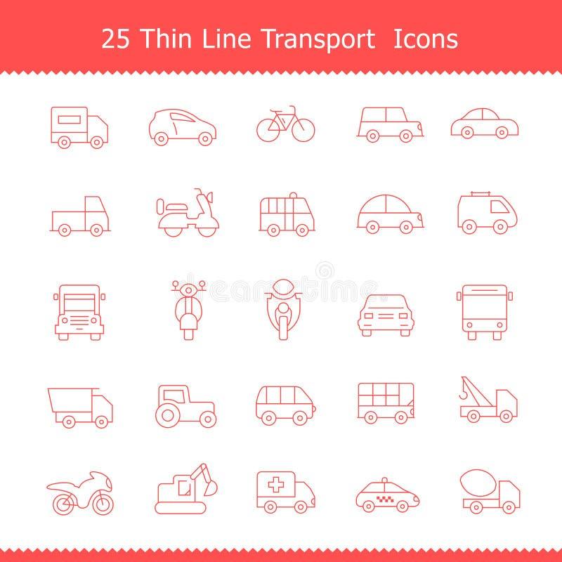 Transportikonen Thinline-Anschlag lizenzfreie abbildung