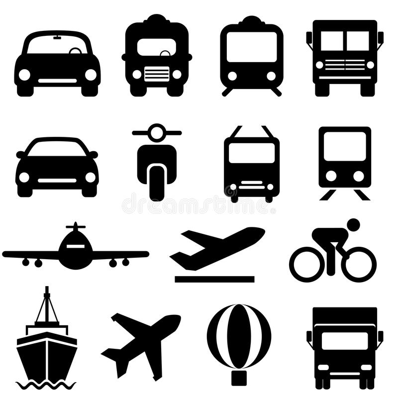 Transportikonensatz stock abbildung