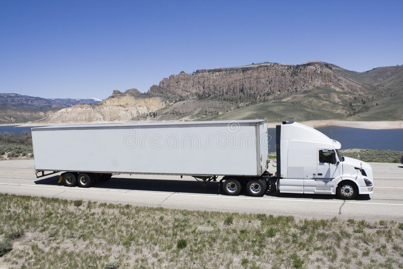 Transporting portable homes royalty free stock images