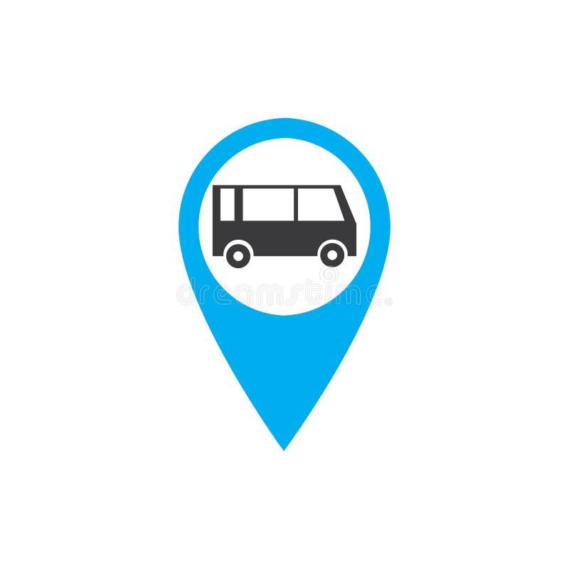 Transportknöpfe eingestellt mit Karte Vektorillustration stock abbildung