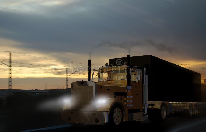transportlastbil stock illustrationer