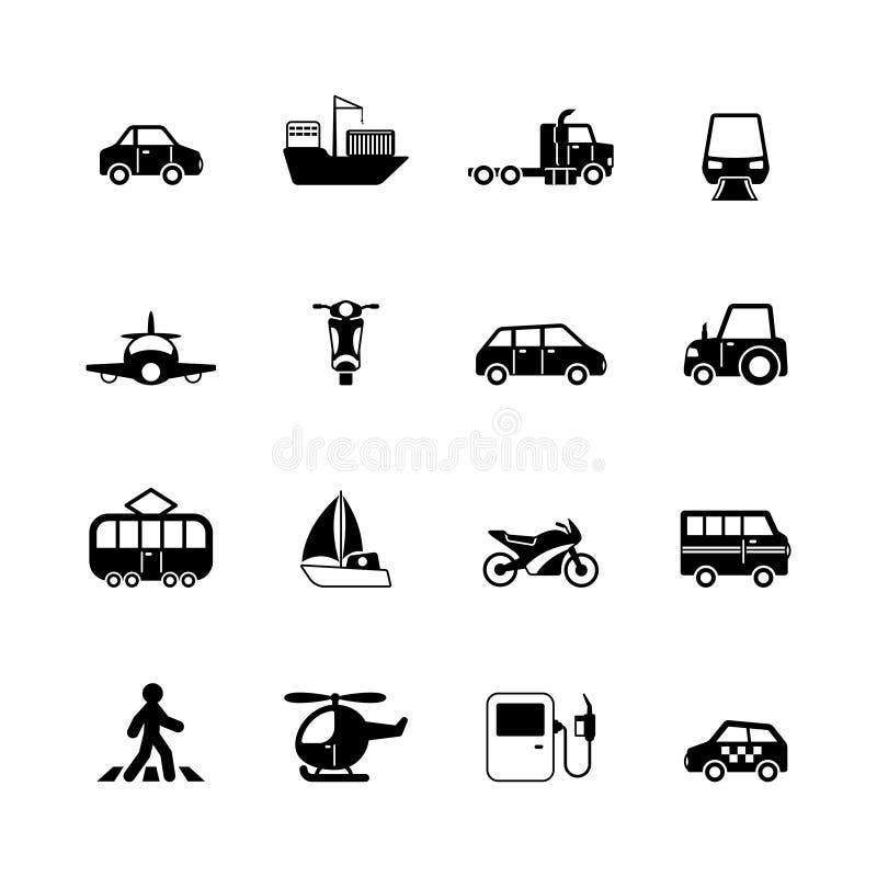 Transportpiktogrammsammlung stock abbildung