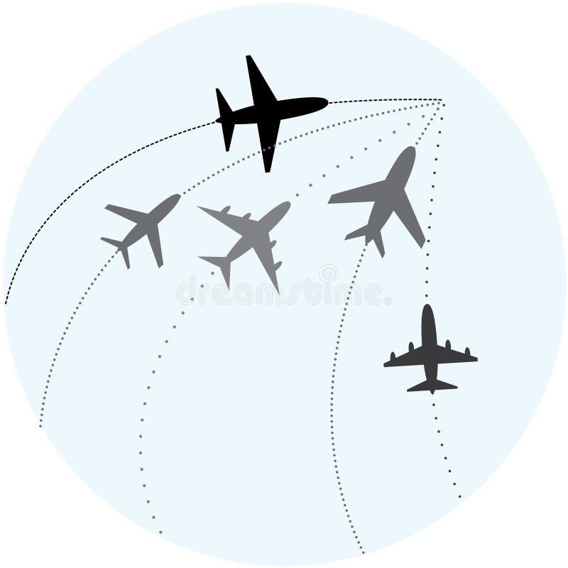Transports aériens. illustration libre de droits