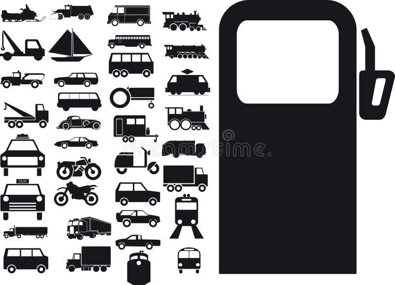 Transporttecken stock illustrationer
