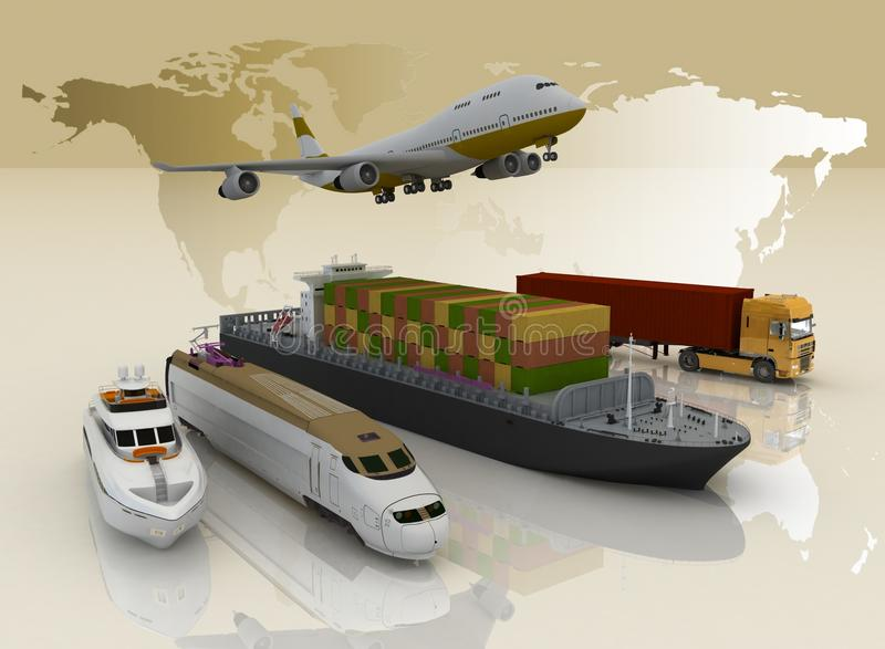 transporttyper royaltyfri illustrationer