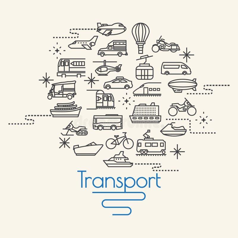 Transportu i pojazdów ikony ilustracji