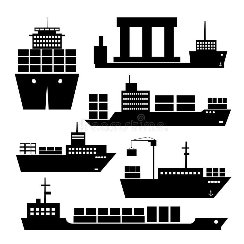 Transportu i wysyłki ikony royalty ilustracja