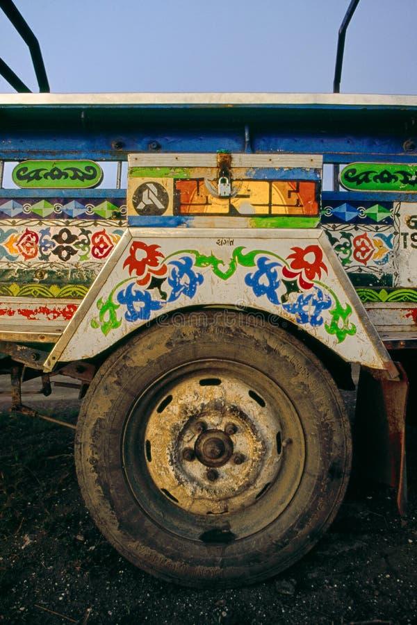 Transportu motocyklu fura Chakda w saurastra Gujarat INDIA obrazy royalty free