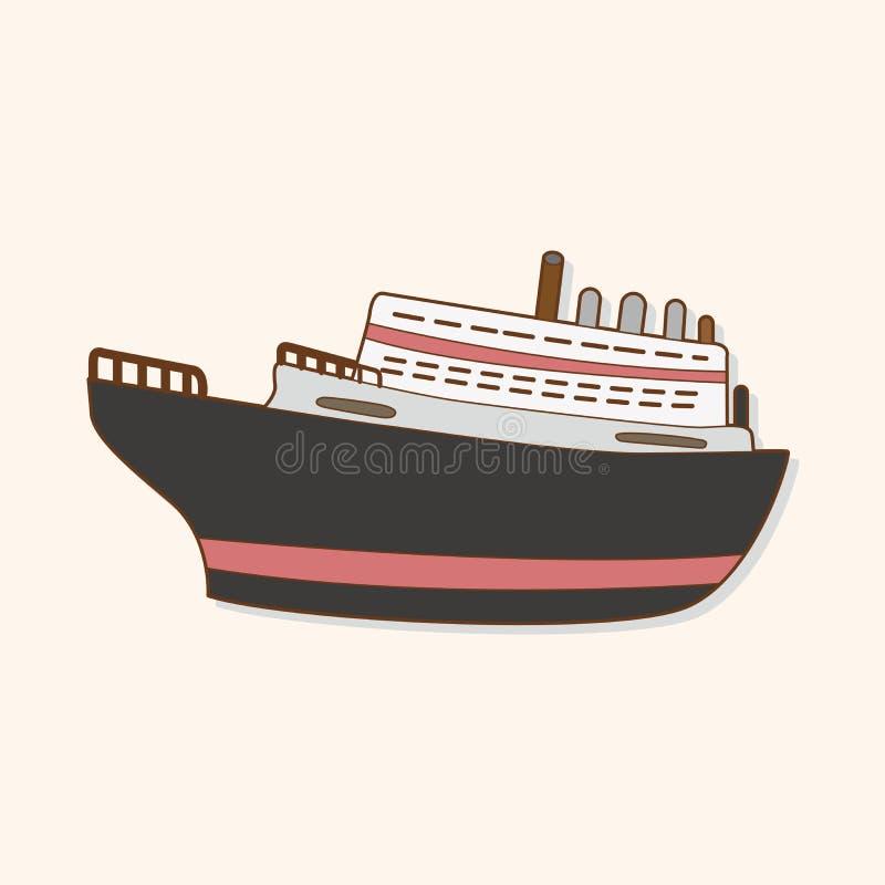 Transportu tematu elementów łódkowaty wektor, eps ilustracja wektor