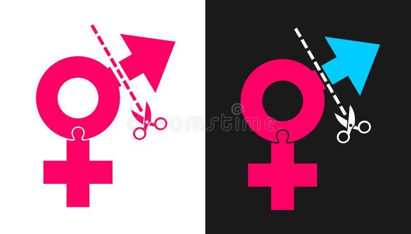 Transsexuality和性再分配行为手术 皇族释放例证