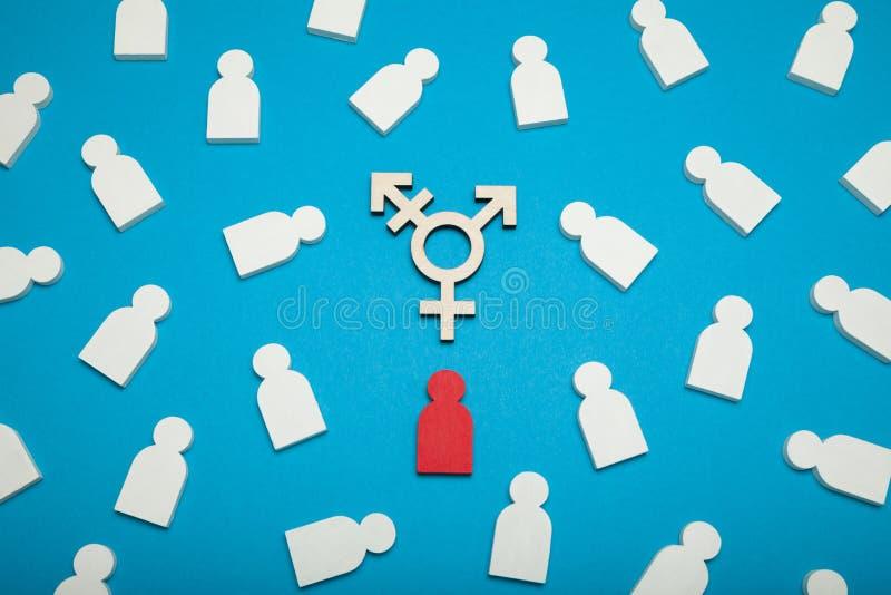 Transsexueel, androgeen concept Crossgenderuitbreiding LGBT-rechtenactivist stock afbeeldingen