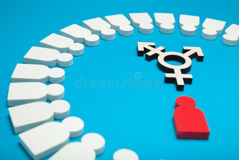 Transsexueelsymbool, activisme en rechten Burgerlijk trans, biseksueel concept stock fotografie