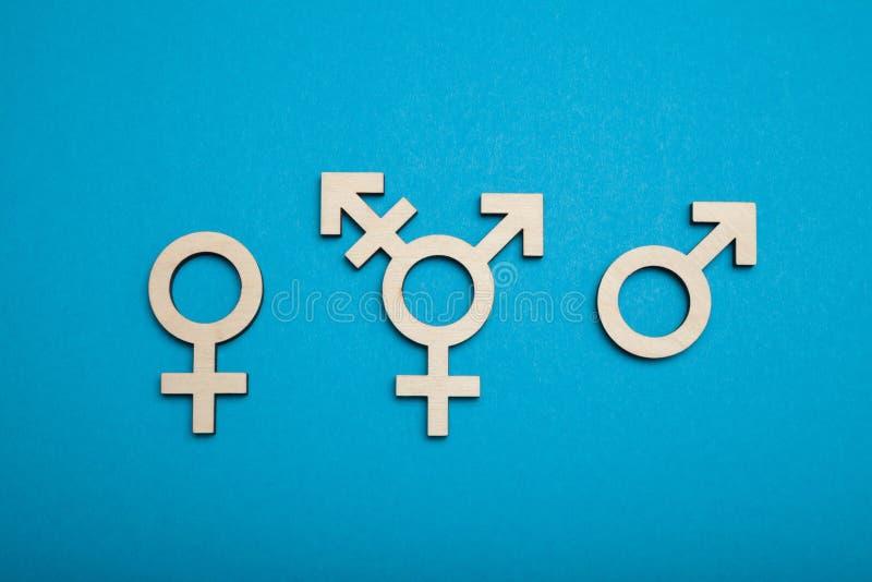 Transsexueelsymbool, activisme en rechten Burgerlijk trans, biseksueel concept stock foto