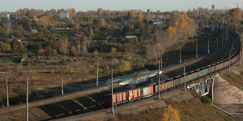 Transsiberian kolej, most, fotografia royalty free