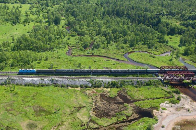 Transsiberische spoorweg stock fotografie