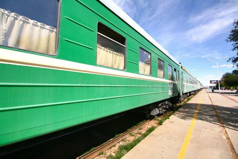 Transsiberische Spoorweg van Peking China aan ulaanbaatar Mongolië royalty-vrije stock foto