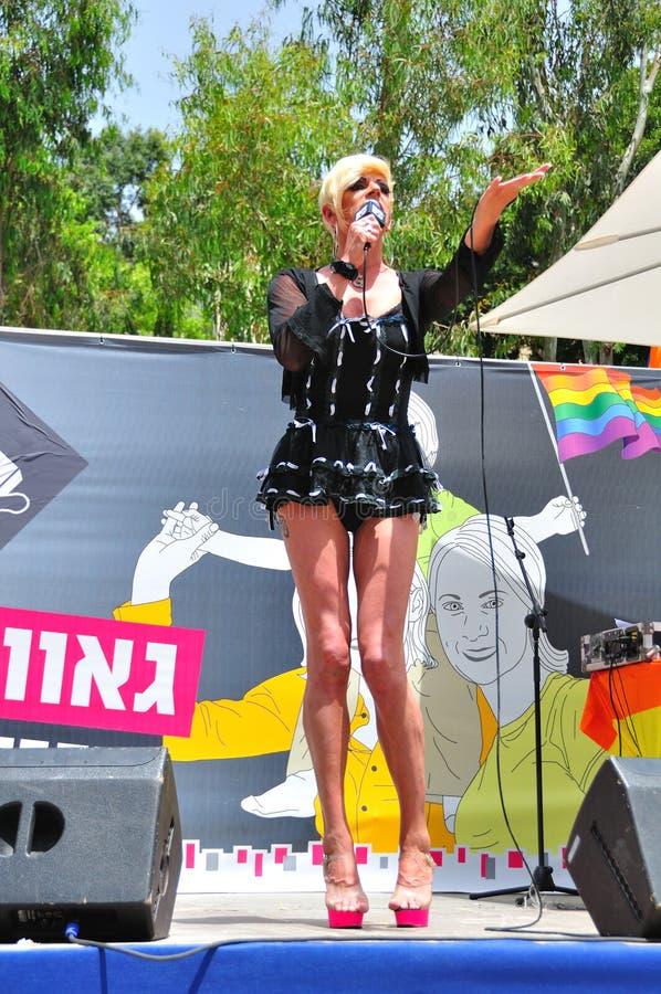 Transvestite singing royalty free stock photos