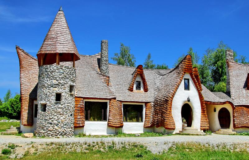 Transylvania Clay Castle in Romania. Carpathian clay castle in Romania. The castle is made out of clay and is located in The valley of Feiries stock photo