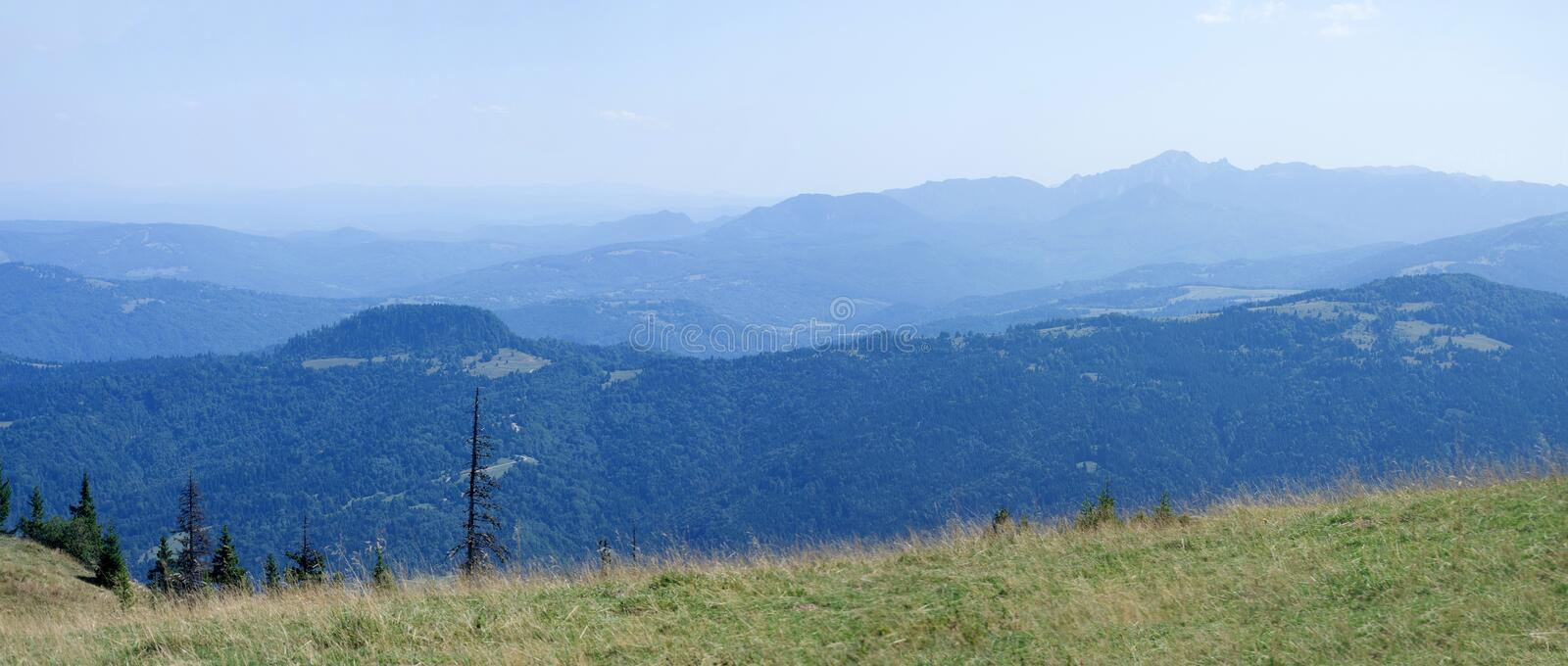Transylvania mountains - panoramic view royalty free stock photography