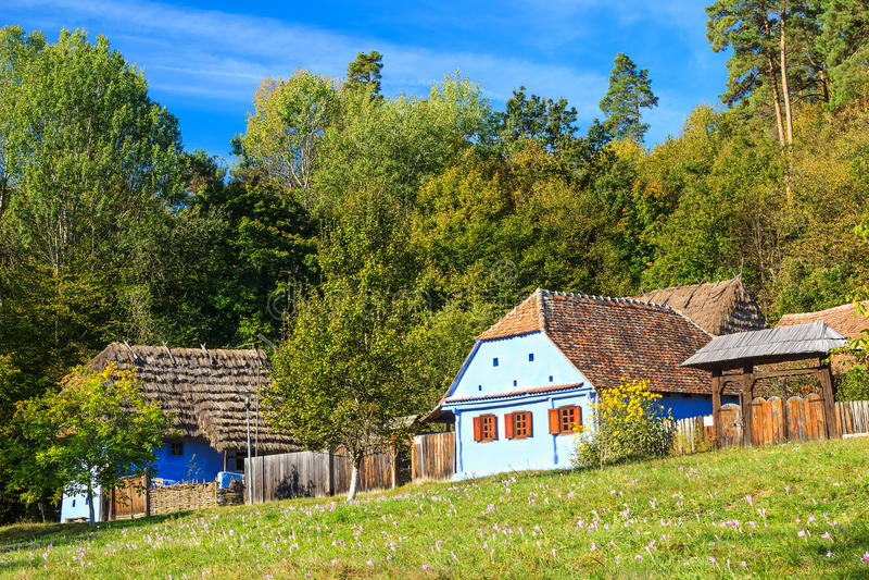 Transylvanian房子和文化,阿斯特拉民族志学博物馆在锡比乌,罗马尼亚 库存照片