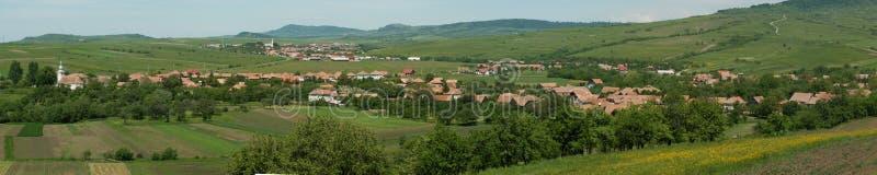 transylvanian χωριά τοπίων στοκ φωτογραφίες