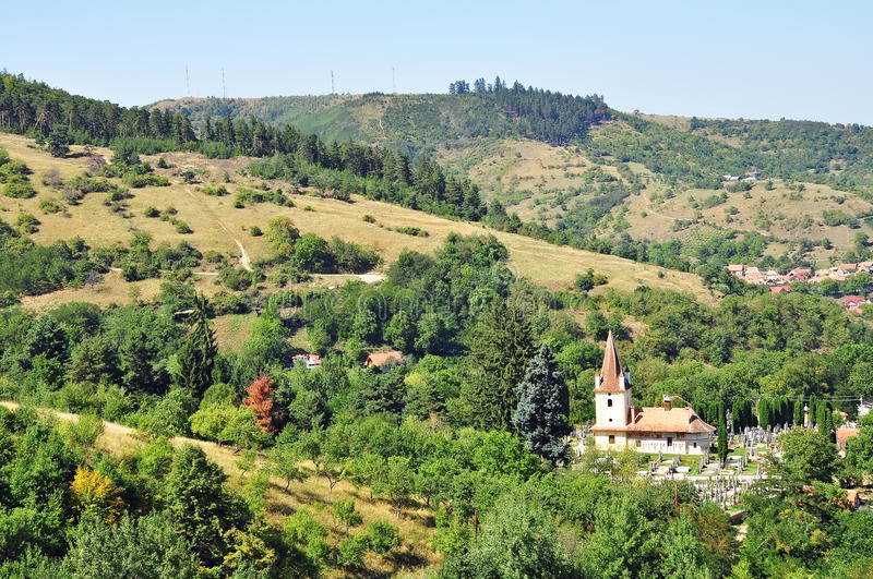 A Transylvanian Village Stock Photo