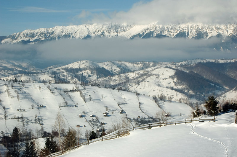 Transylvanian winter stock photography