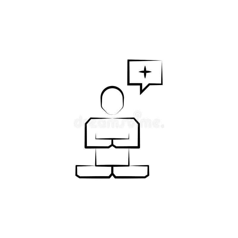 Transzendenzikone Element der wütenden Wissenschaftsikone für bewegliche Konzept und Netz apps Hand gezeichnete Transzendenzikone lizenzfreie abbildung