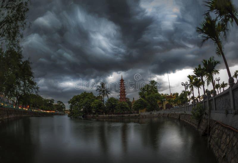 Tranu Quoc świątynia zdjęcie stock