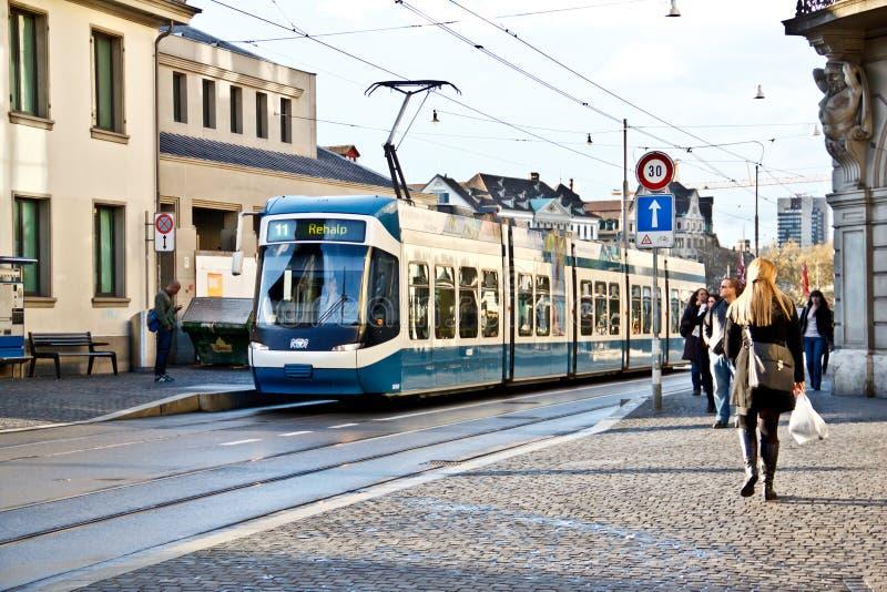 Tranvía 2 de Zurich fotos de archivo libres de regalías