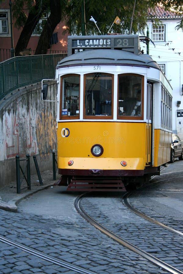 Tranvía amarilla imagenes de archivo