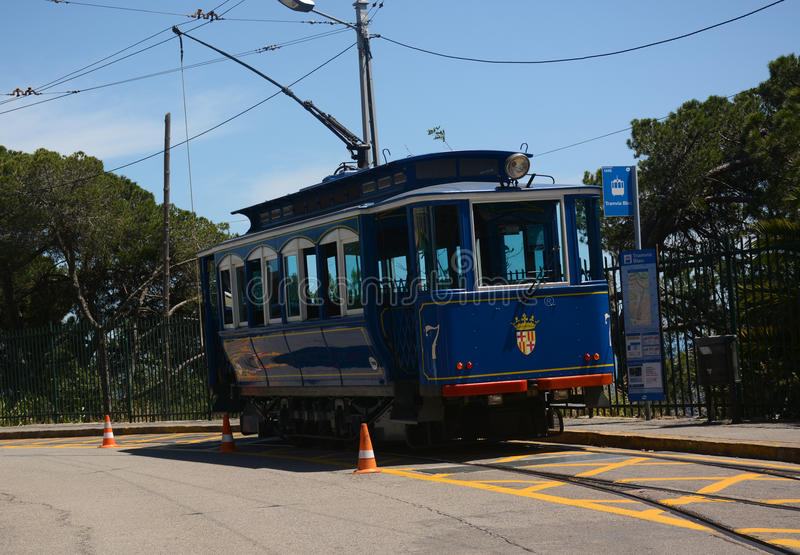 Tranvía azul Tramvia Blau fotos de archivo