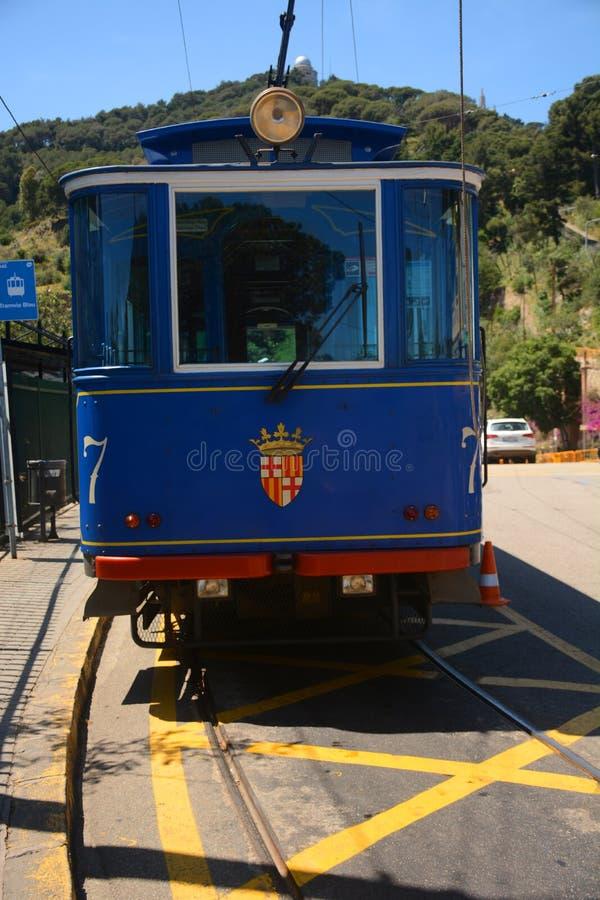 Tranvía azul Tramvia Blau fotos de archivo libres de regalías