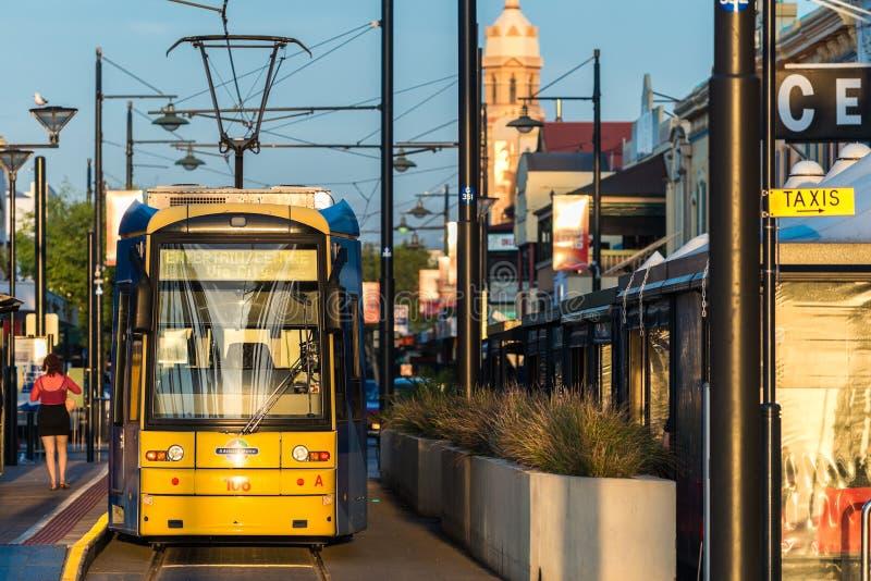 Tranvía de Adelaide en Glenelg fotos de archivo