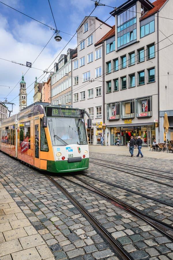 Tranvía de Augsburg fotos de archivo