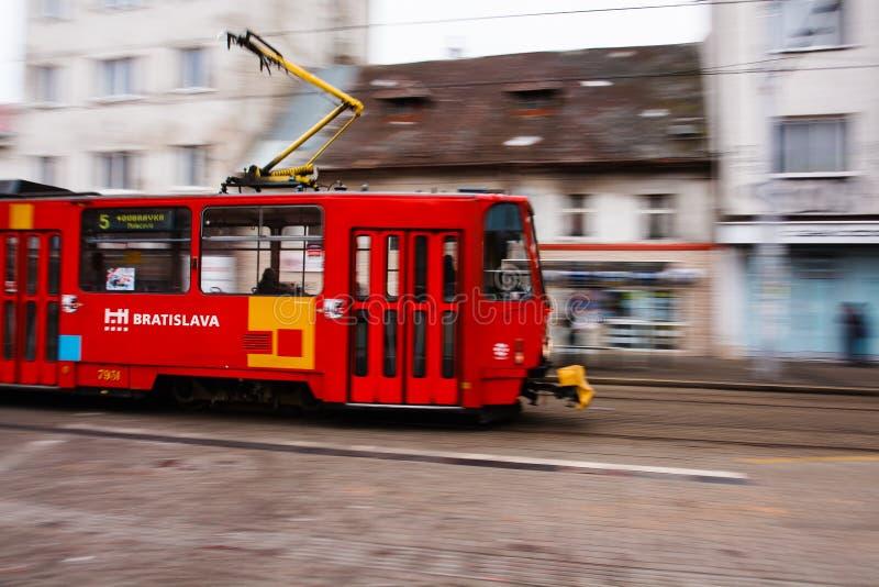 Tranvía de Bratislava fotos de archivo