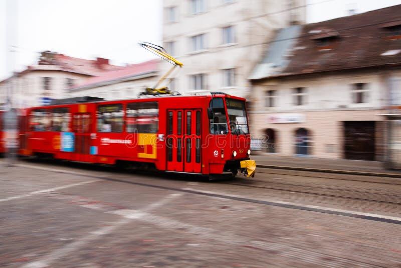 Tranvía de Bratislava foto de archivo