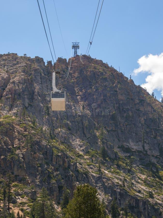 Tranvía de la antena de Squaw Valley foto de archivo