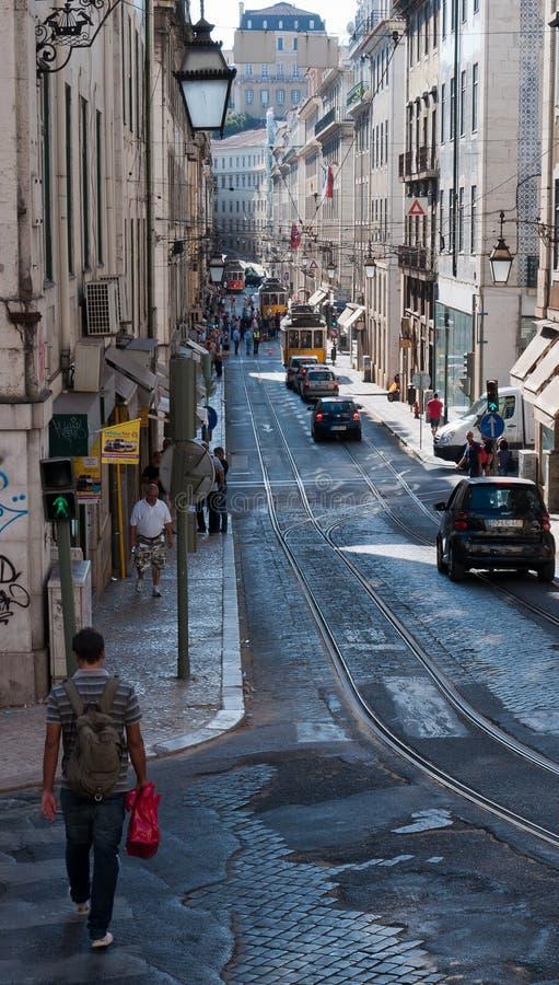 Tranvía de Lisboa fotos de archivo