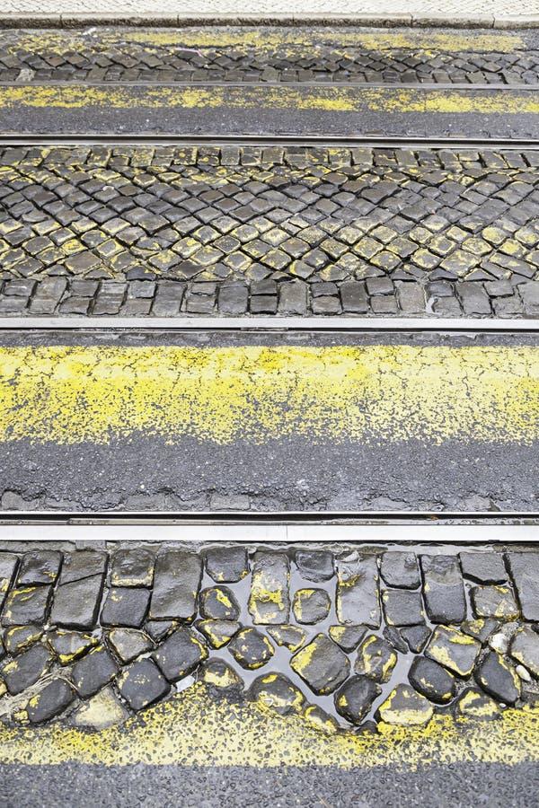 Tranvía de los caminos fotografía de archivo