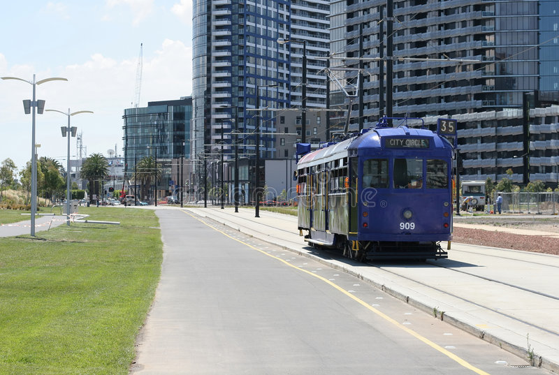 Download Tranvía de Melbourne foto de archivo. Imagen de señal - 1280290
