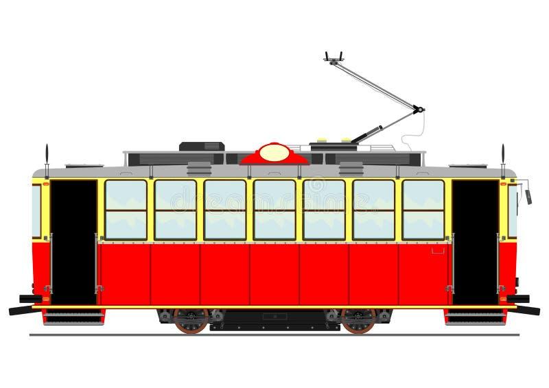 Tranvía del vintage stock de ilustración