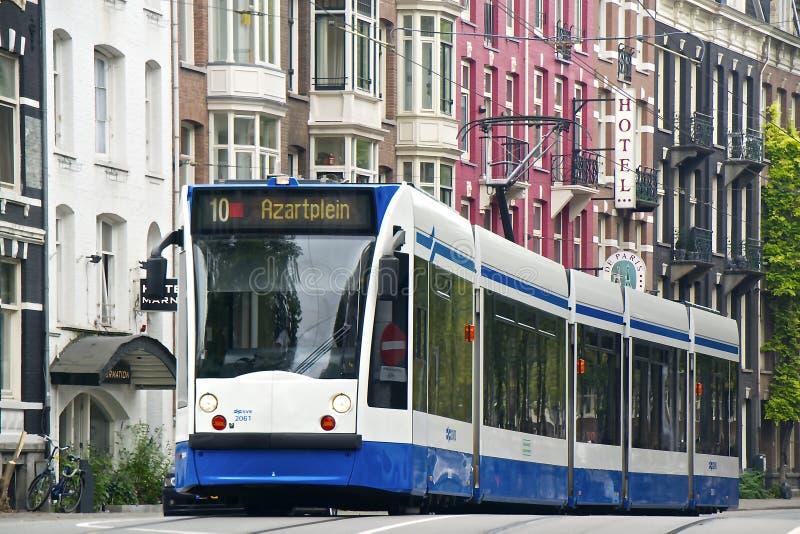 Tranvía en Amsterdam imagen de archivo