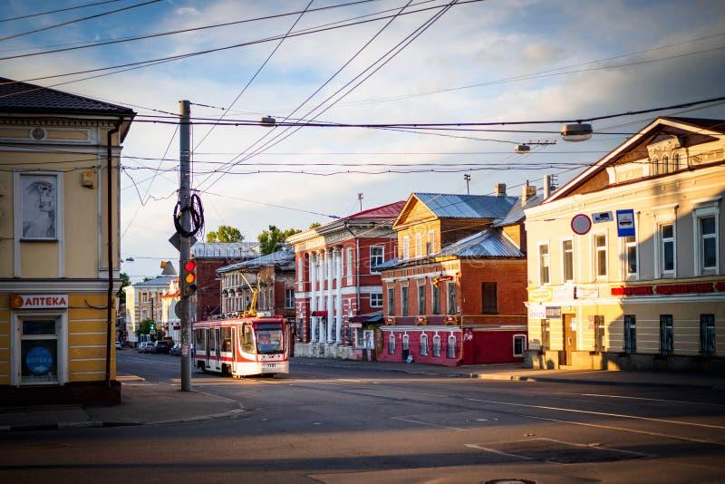 Tranvía en la calle foto de archivo