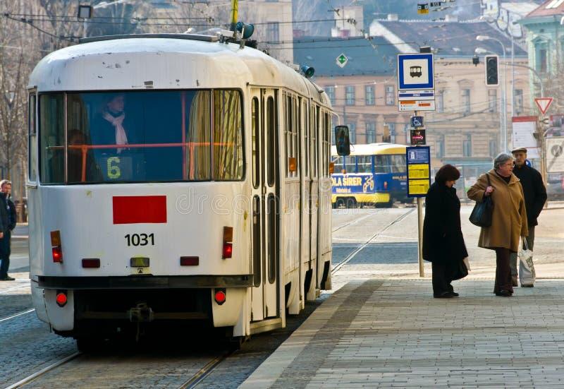 Tranvía en República Checa foto de archivo libre de regalías